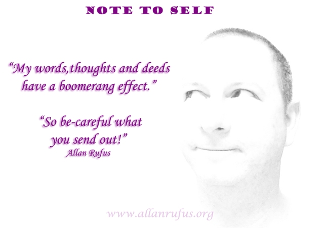 Note to Self - Boomerang effect
