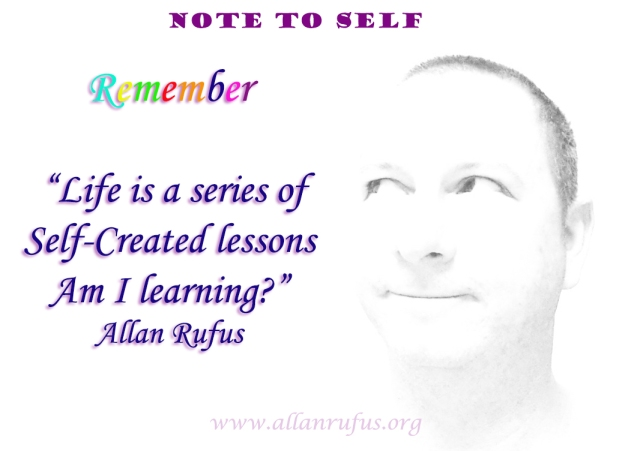 Quote and Note to Self - Self created lessons