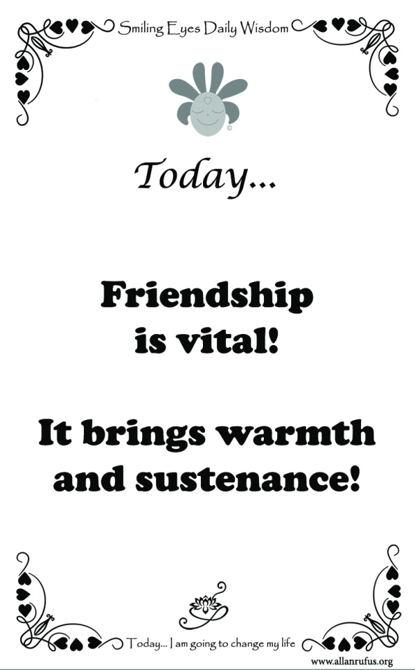 Happy Valentines - Friendship is vital!