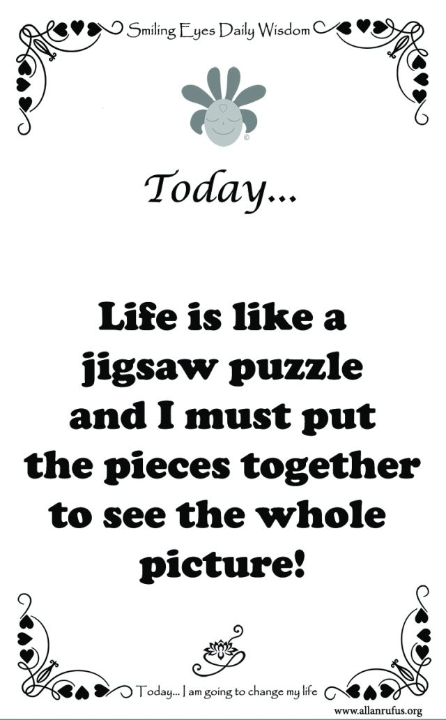 Smiling Eyes Daily Wisdom – Jigsaw Puzzle!