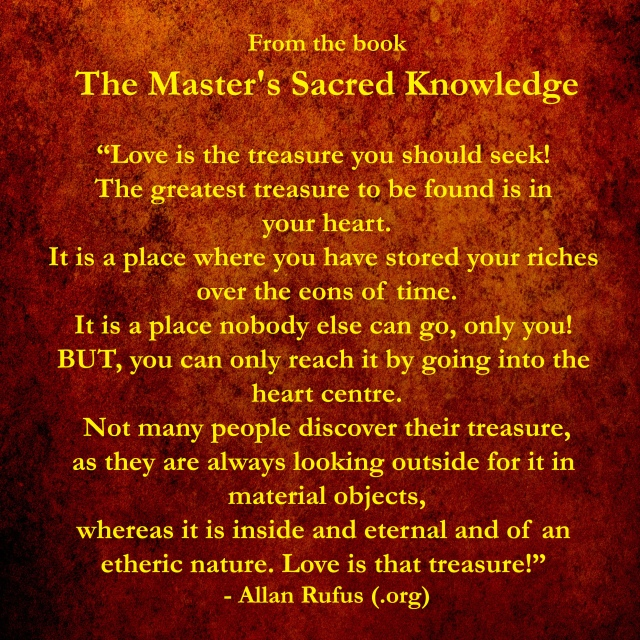 Love is the treasure we should all seek!